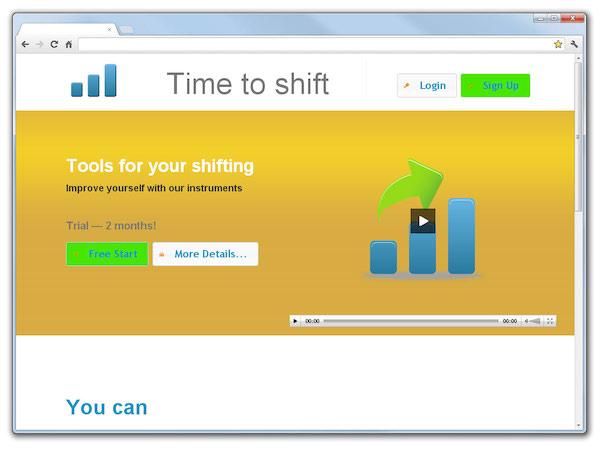 Разработка интернет-сервиса ToShift - Tools For Improving