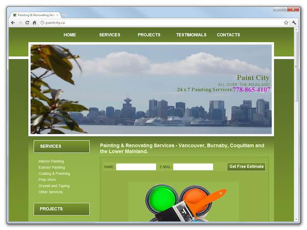 Сайт строительной компании Paint City