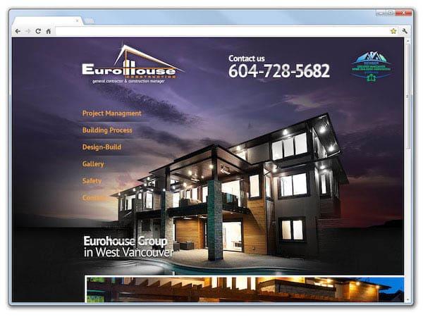 Корпоративный сайт компании Eurohouse Group
