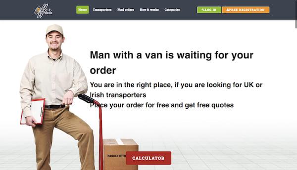 Разработка биржи грузоперевозок OfferPride.com (UK, Ireland)